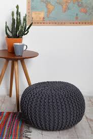 Knit Ottoman Pouf Simple Pouf Pattern On Dcaaabcffefefcfa Outfitters Decor