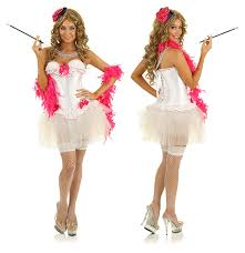 white burlesque fancy dress