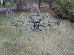 Vintage Woodard Patio Furniture Patterns by Salterini Laurel Leaf Wrought Iron Patio Set