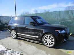 land rover black 2016 2016 land rover range rover hse in santorini black metallic