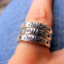 ring with children s names handsted ring ideas collections