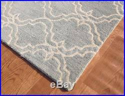 Pottery Barn Scroll Rug Barn Scroll Tile Porcelain Blue Woolen Modern 8x10 Area Rug Carpet