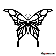 black tribal butterfly sketch tattoomagz