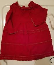 carters red fancy holiday dress size 9 months baby girls 1st