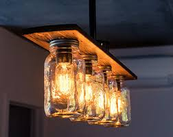 diy mason jar light with iron pipe mason jar lighting fixtures how to make a mason jar chandelier