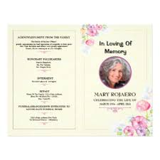 Funeral Program Sample Funeral Flyers U0026 Programs Zazzle