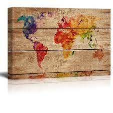 World Map Wood Wall Art by Wall26 Com Art Prints Framed Art Canvas Prints Greeting