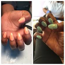 the green nails are product of this salon uneven u0026 lumpy