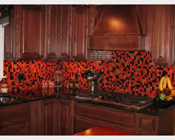 Glass Tile For Kitchen Backsplash Red Glass Tile Kitchen Backsplash Capitangeneral