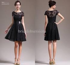 2013 new lovely cap sleeves overlace litte black cocktail dress