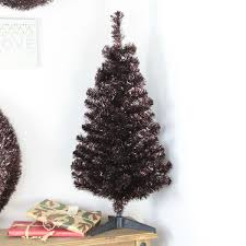 artificial tinsel tree