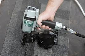 Bosch Roofing Nail Gun by Hitachi Nv45ab2 7 8 Inch To 1 3 4 Inch Coil Roofing Nailer Side