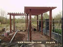 wood plastic composite deck railing pergola from huasu wpc youtube
