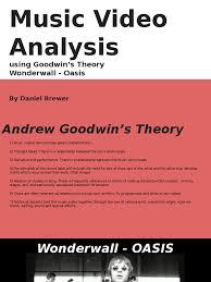 wonderwall andrew goodwin analysis song structure refrain