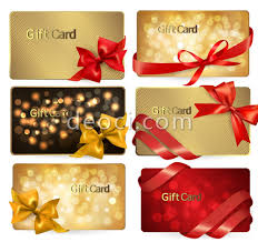 vector golden ribbons holiday card design template illustrator the