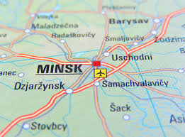 minsk russia maps map of minsk stock photo image of road russia 70113884