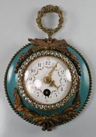 Ebay Cuckoo Clock Antique French Enameled Porcelain Face Wall Clock Marked C H 3107