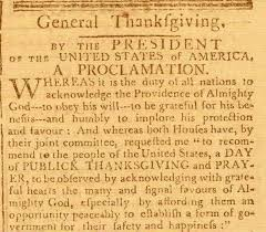 thanksgiving proclamation archiving early america