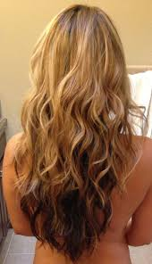 what are underneath layer in haircust long layered v shaped haircut blonde on top brown underneath