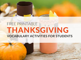 thanksgiving vocabulary worksheets your students will