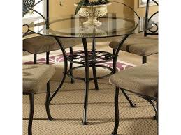 Steve Silver Dining Room Sets Steve Silver Brookfield Round Glass Top Dining Table U0026 4 Side