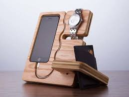 Wood Desk Organizer The Wood Station Doubles As A Desk Organizer