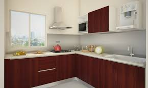 l shaped kitchen decor with beautiful view at windows and modern