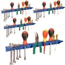 Wall Organiser Blue Tool Rack Garage Wall Storage Kit Pack Of 4 Tool Organiser