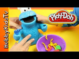 play doh cookie monster lunch letter soup veggies fruits cookies