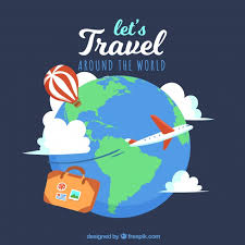 travel around the world background vector free