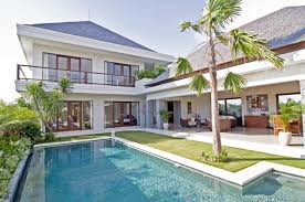 home design with two storey also pool beside garden including open