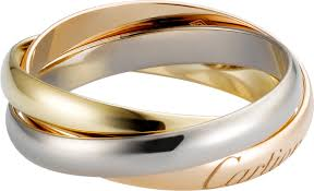 cartier rings images Crb4086100 trinity ring small model white gold yellow gold png