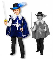 Musketeer Halloween Costume Child Musketeer Tunic Velvet Capes Kids Child Cape
