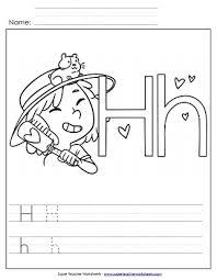 letter h worksheets recognize trace u0026 print