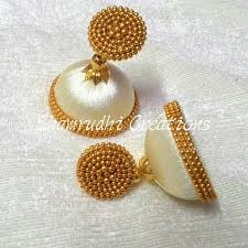 threaded earrings 95 best silk thread jhumkas images on silk thread