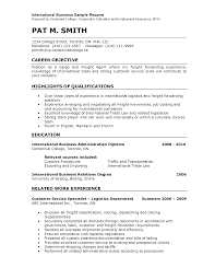 Sample Resume Objectives For Logistics by Resume For Freight Forwarding Company Free Resume Example And