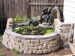 outdoor and garden backyard ponds ideas with attractive design