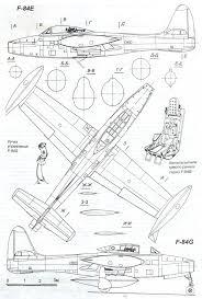 Blueprints Free by Republic F 84 Thunderjet Blueprint Download Free Blueprint For