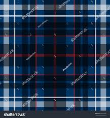 vector seamless scottish tartan pattern blue stock vector