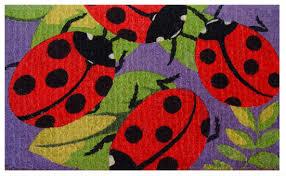 Outdoor Coir Doormats Imports Decor Ladybugs Coir Doormat In Door Mats