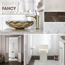 Powder Room Flooring Flight Of Fancy Bathroom Kohler
