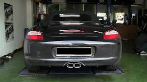 porsche boxster 987 exhaust porsche 987 boxster s with tubi style exhaust system