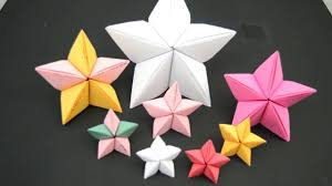 christmas craft ideas paper christmas star 3d paper star origami