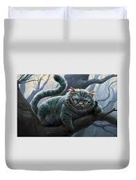 cheshire cat duvet covers fine art america