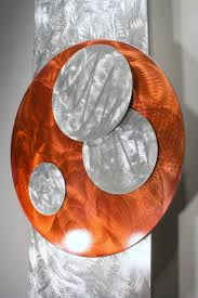 Orange Home Decor Orange Art Metal Wall Sculpture Abstract Home Decor Painting