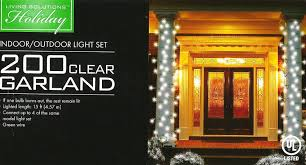 Outdoor Lighted Garland Amazon Com 200 Clear Garland Style Indoor Outdoor Light Set Home