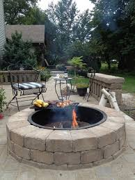 Backyard Patios With Fire Pits by Outdoor Fire Pits Fireplaces And Grills