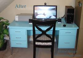 Home Makeover 2010 by Metal Desk Makeover Before And After Reveal