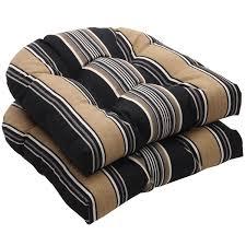Tan Wicker Patio Furniture - furniture black and tan stripe wicker wicker chair cushions