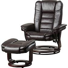 ottoman brexley leather club chair ottoman in black leather